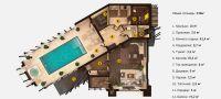 План двухэтажной бани «Дианта» 21,8x13,9 метров под ключ