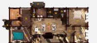 План деревянной бани «Фемида» 5х6 метров под ключ