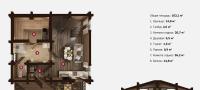 План бани «Тера» 8х7 м из оцилиндрованного бревна под ключ