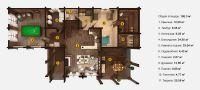 План двухэтажной бани «Кимо» 10x18 метров из клееного бруса под ключ