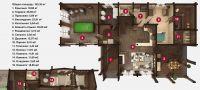 План бани «Леко» 10,3х17,8 м из оцилиндрованного бревна под ключ