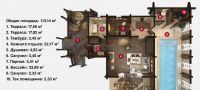 План бани «Винта» 14,6х10,8 м из оцилиндрованного бревна под ключ