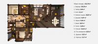План бани «Авра» 10,8х16,7 метров из клееного бруса под ключ