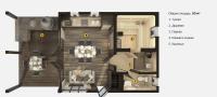 План бани «Тиэлла S CLT» 5,9х10,7 метров из CLT-панелей под ключ
