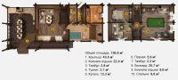 Планировка двухэтажной бани «Пандора» 15,2х7,1 м из клееного бруса под ключ