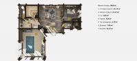 План бани «Майя» 11,3х12,7 метров из клееного бруса под ключ