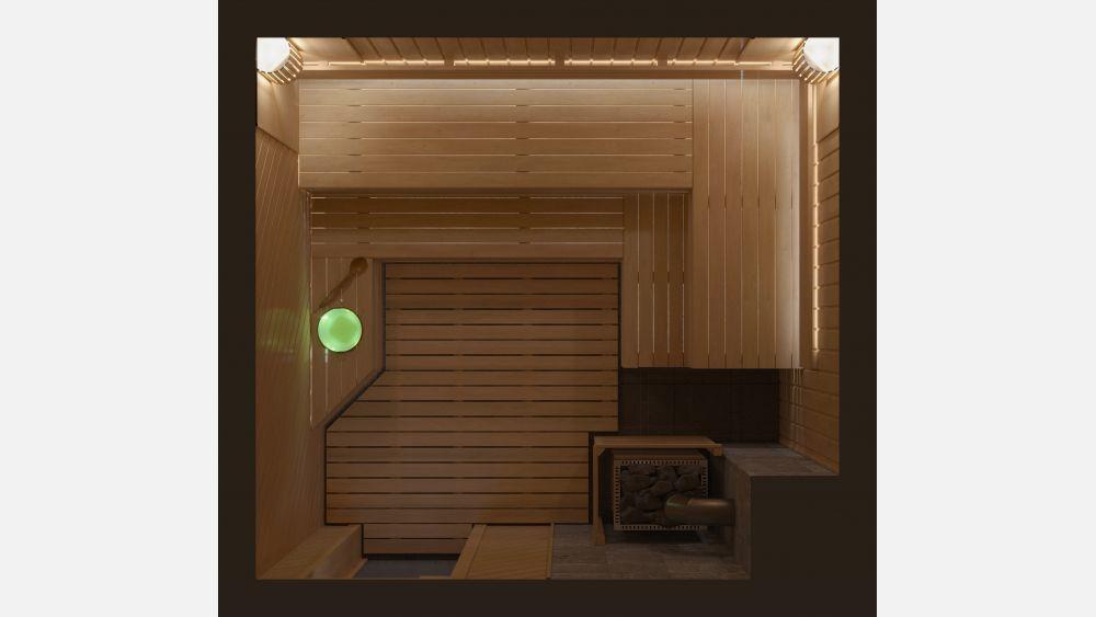 План парной с дровяной печью «Дора» 2,8х2,6 под ключ